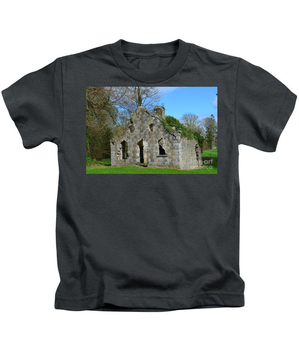 Ruins Kids T-Shirt featuring the photograph Adare Chapel Ruins by DejaVu Designs