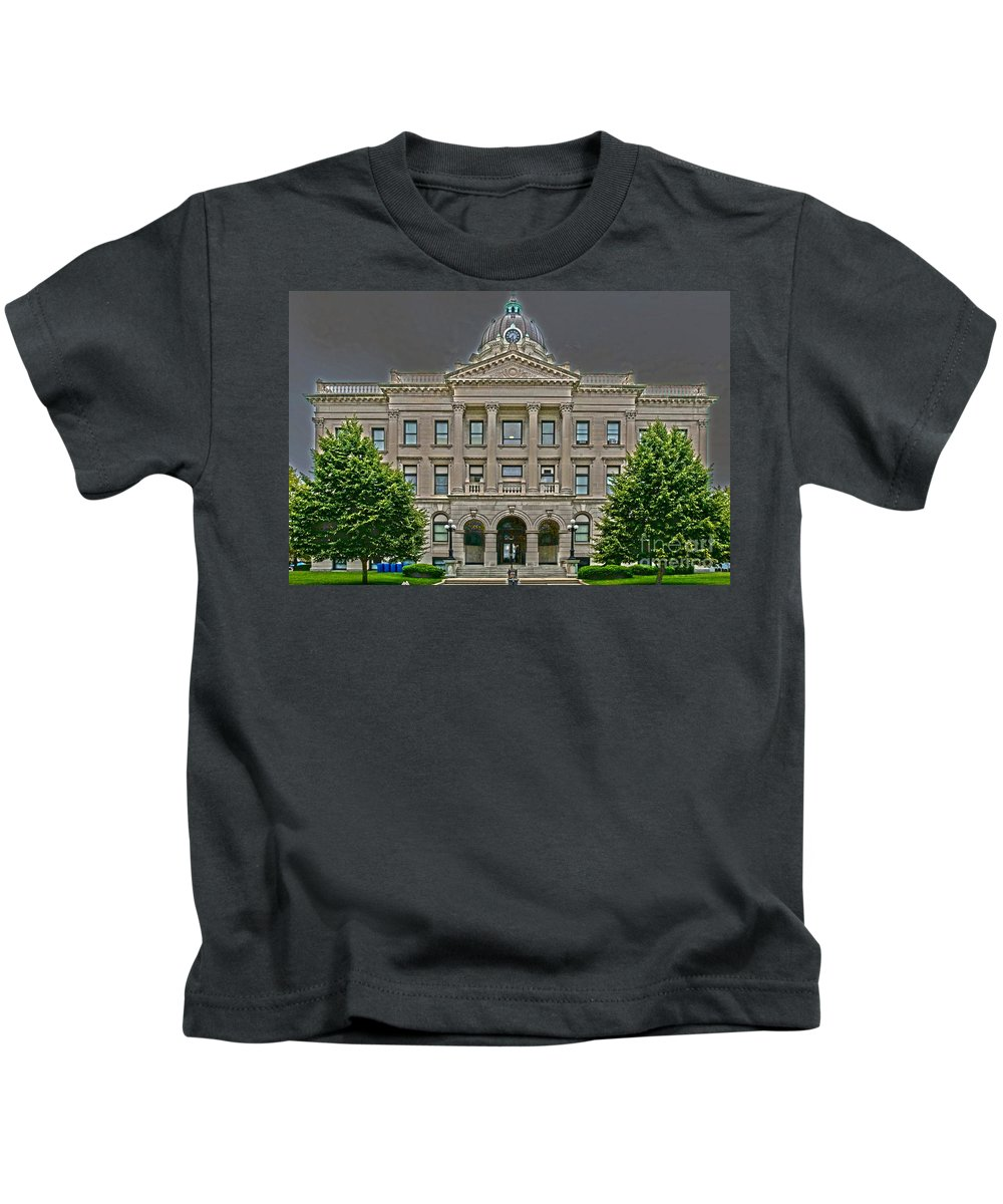 Bloomington Kids T-Shirt featuring the photograph Adjourned by Alan Look