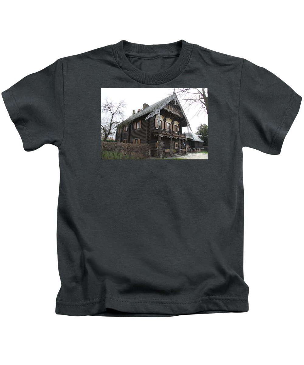 Village Kids T-Shirt featuring the photograph Alexandrowka - Russian Village - Potsdam by Christiane Schulze Art And Photography