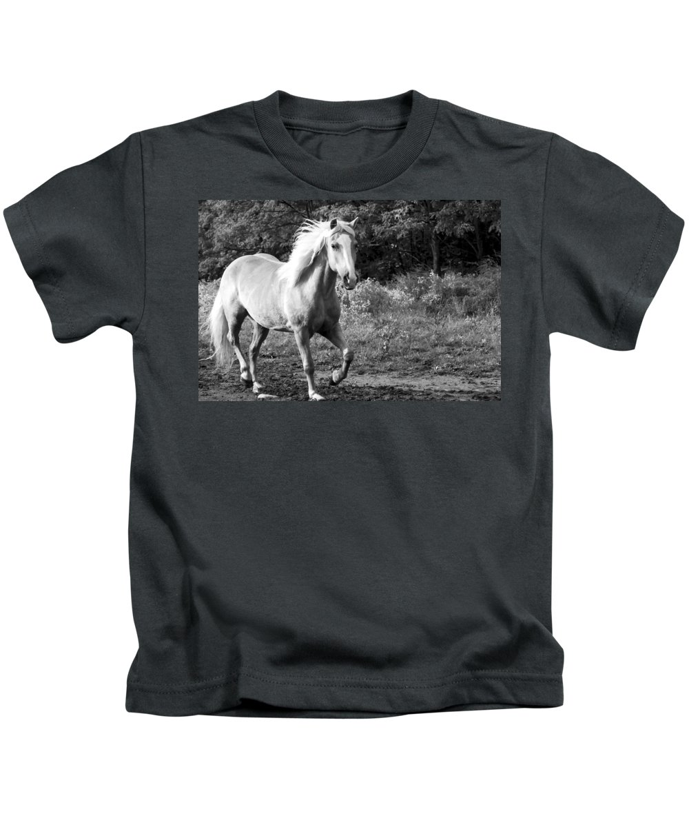 Horse Kids T-Shirt featuring the photograph All Charm by Annette Persinger