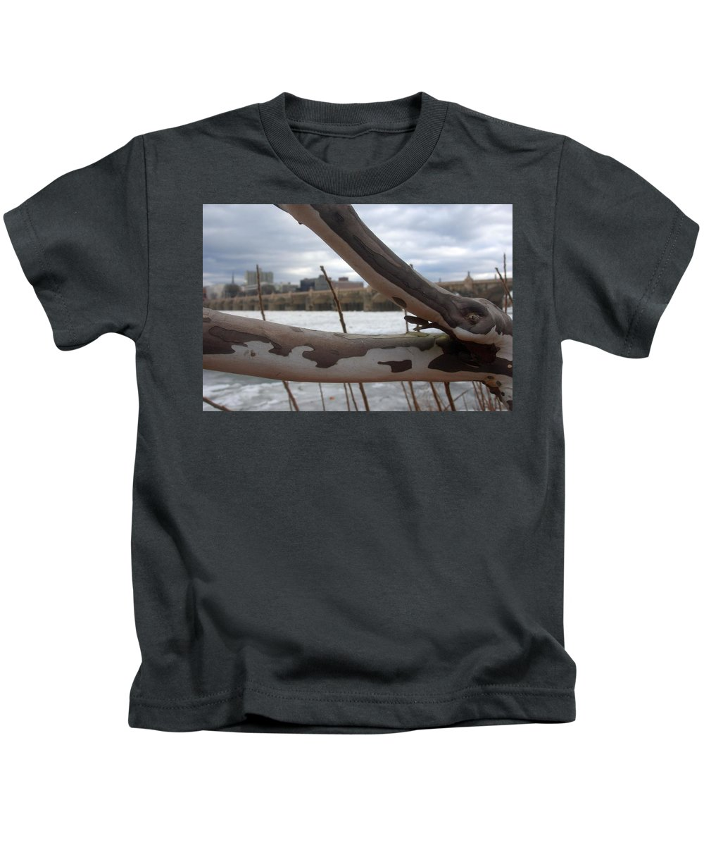 Alligator Kids T-Shirt featuring the photograph Alligator Branch by Rob Luzier