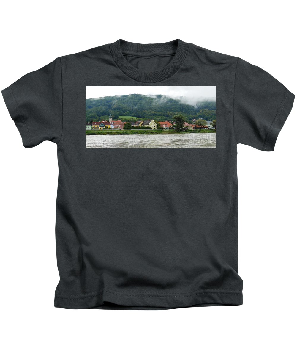 River Kids T-Shirt featuring the photograph Along The Blue Danube by Lisa Kilby