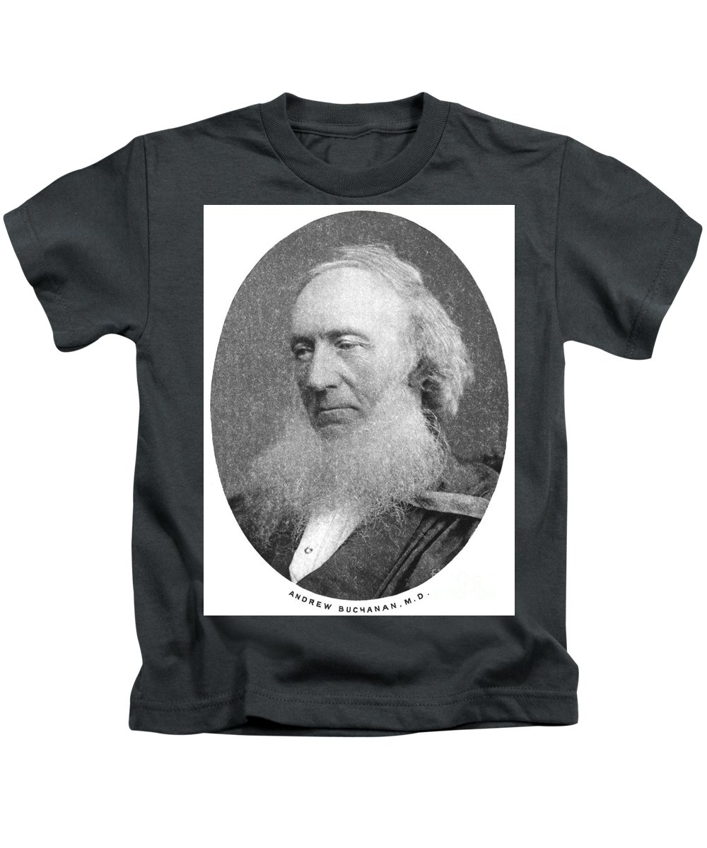 19th Century Kids T-Shirt featuring the photograph Andrew Buchanan by Granger