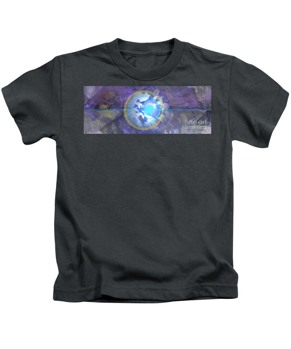 Kids T-Shirt featuring the painting Angel Anathiel Detail by Luke Galutia