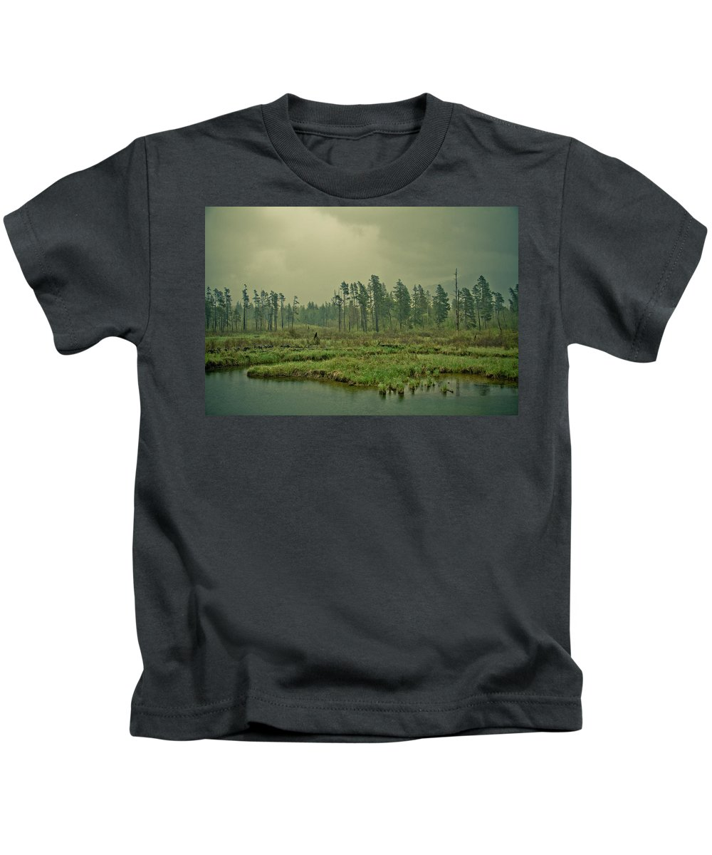 Terrain Kids T-Shirt featuring the photograph Another World-another Time by Eti Reid