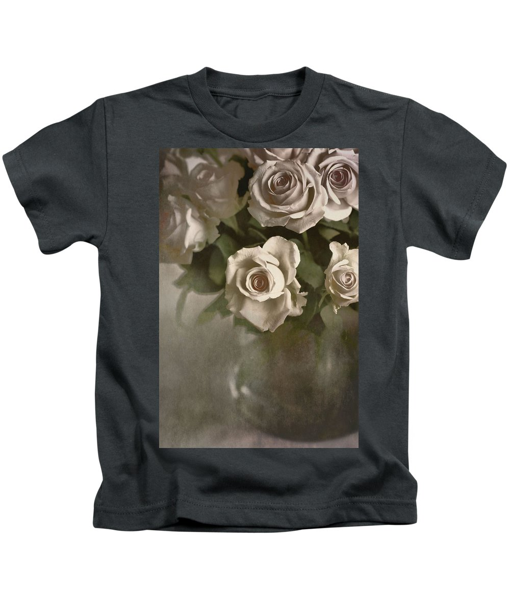 Roses Kids T-Shirt featuring the photograph Antique Roses by Annie Snel