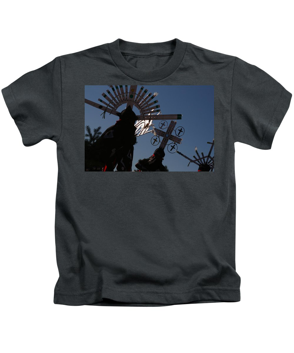 Dance Kids T-Shirt featuring the photograph Apache Dancers by Joe Kozlowski