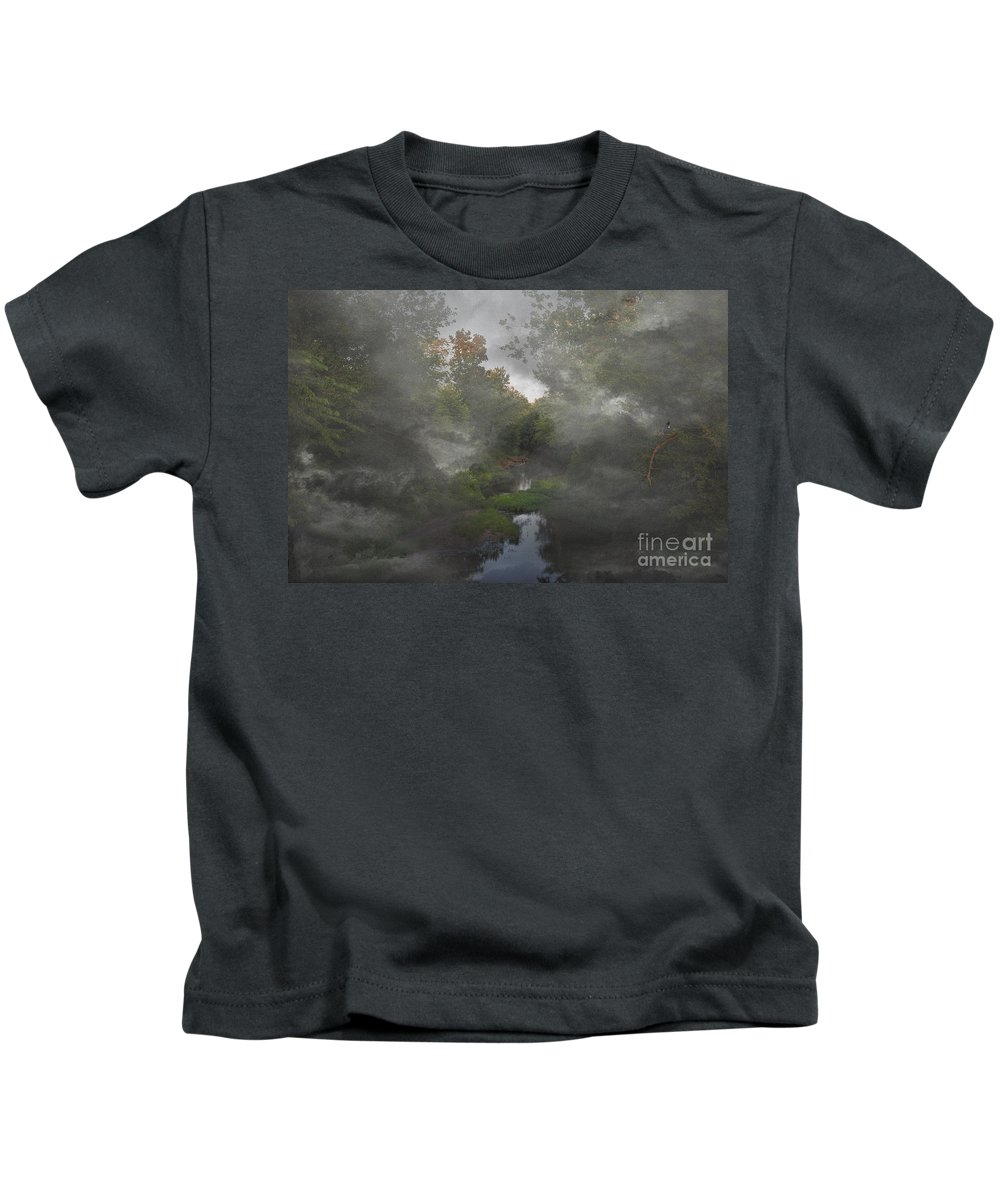 2013 Kids T-Shirt featuring the photograph Apple Creek by Larry Braun