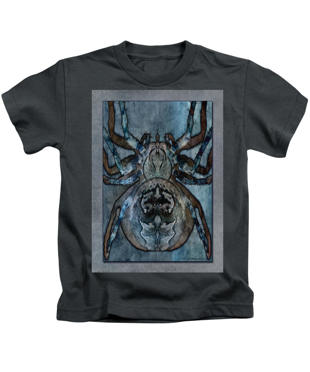 Spider Kids T-Shirt featuring the photograph Arachnophobia V by WB Johnston
