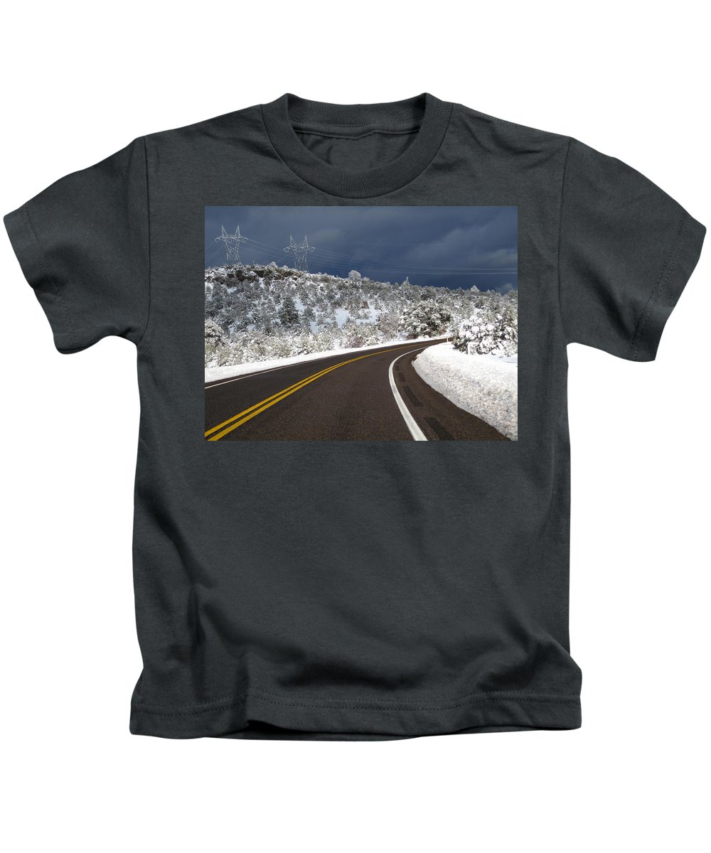 Kids T-Shirt featuring the photograph Arizona Snow 2 by Gregory Daley MPSA