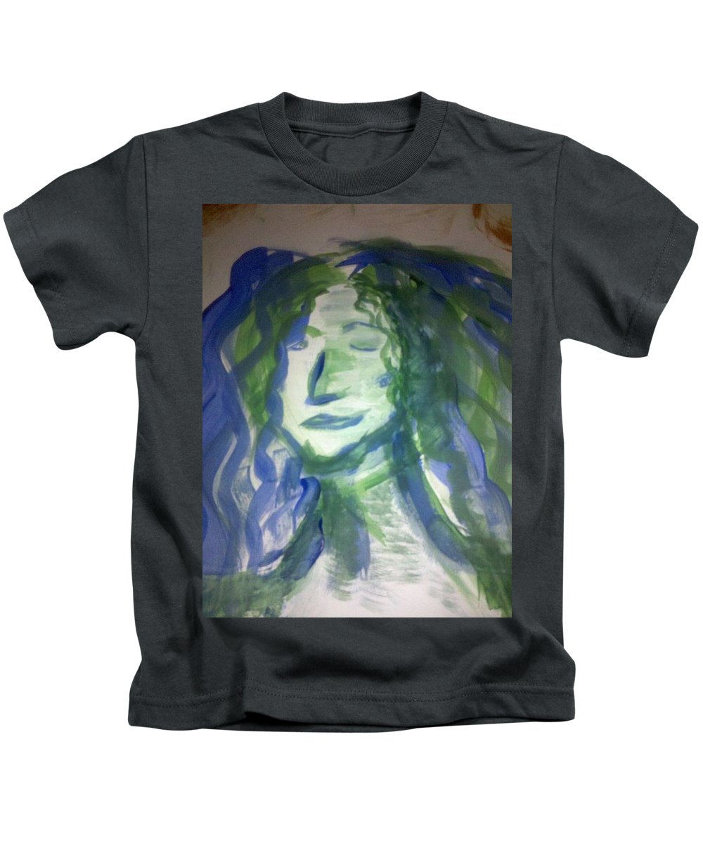 Woman Kids T-Shirt featuring the photograph Art Therapy 9 by Michele Monk
