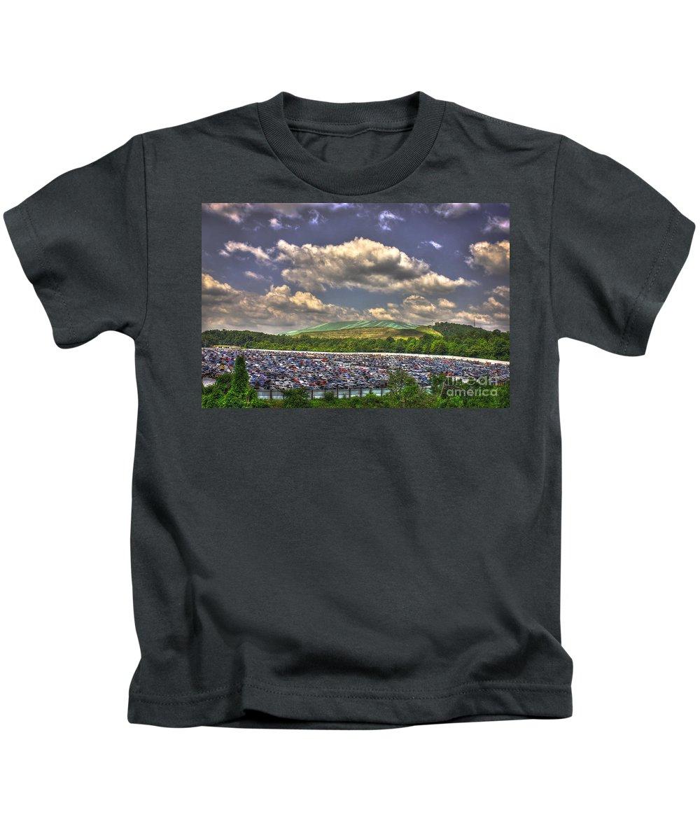 Environmental Trash Kids T-Shirt featuring the photograph Atlanta Leftovers by Reid Callaway