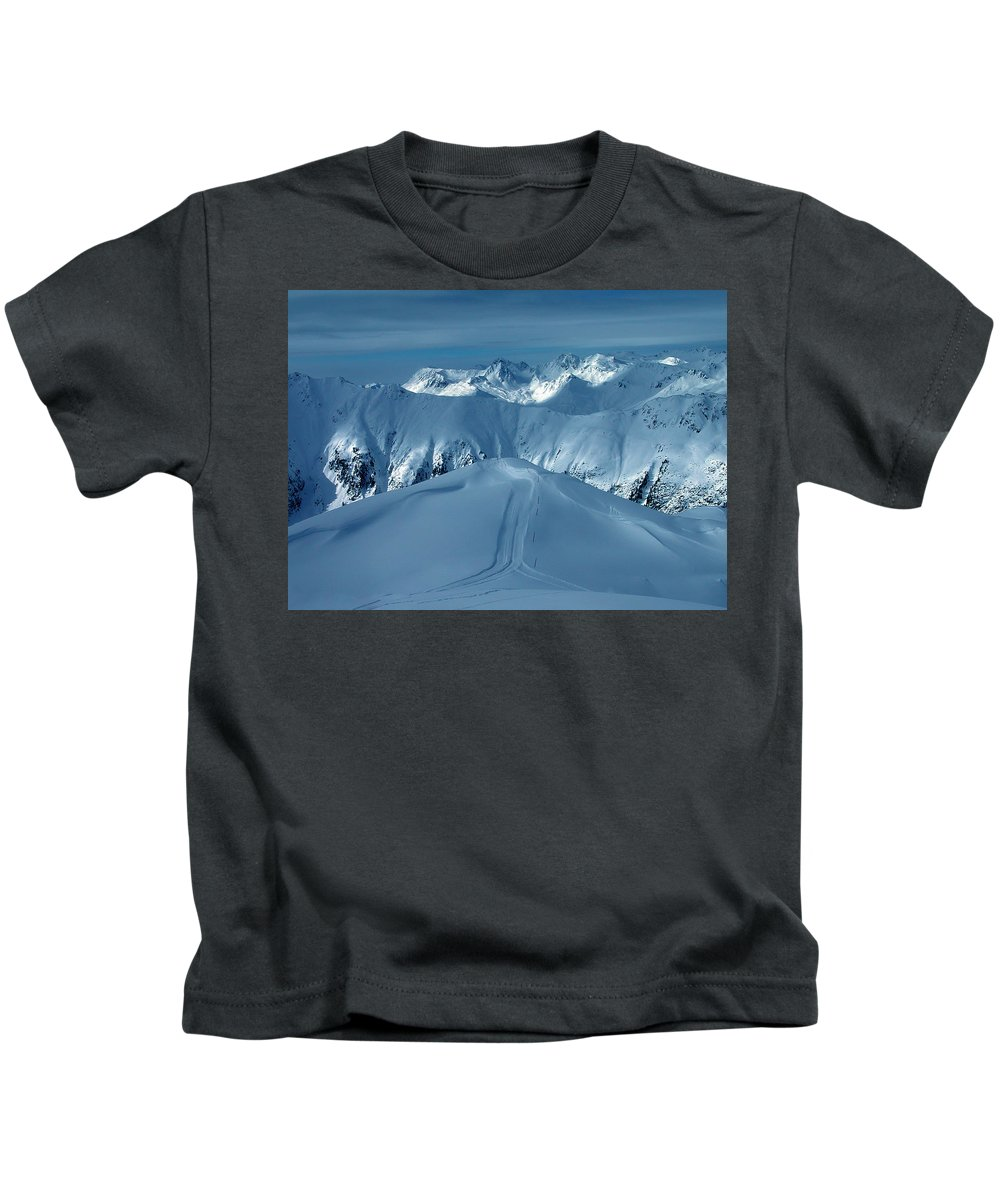 Colette Kids T-Shirt featuring the photograph Austria Mountain Ischgl by Colette V Hera Guggenheim