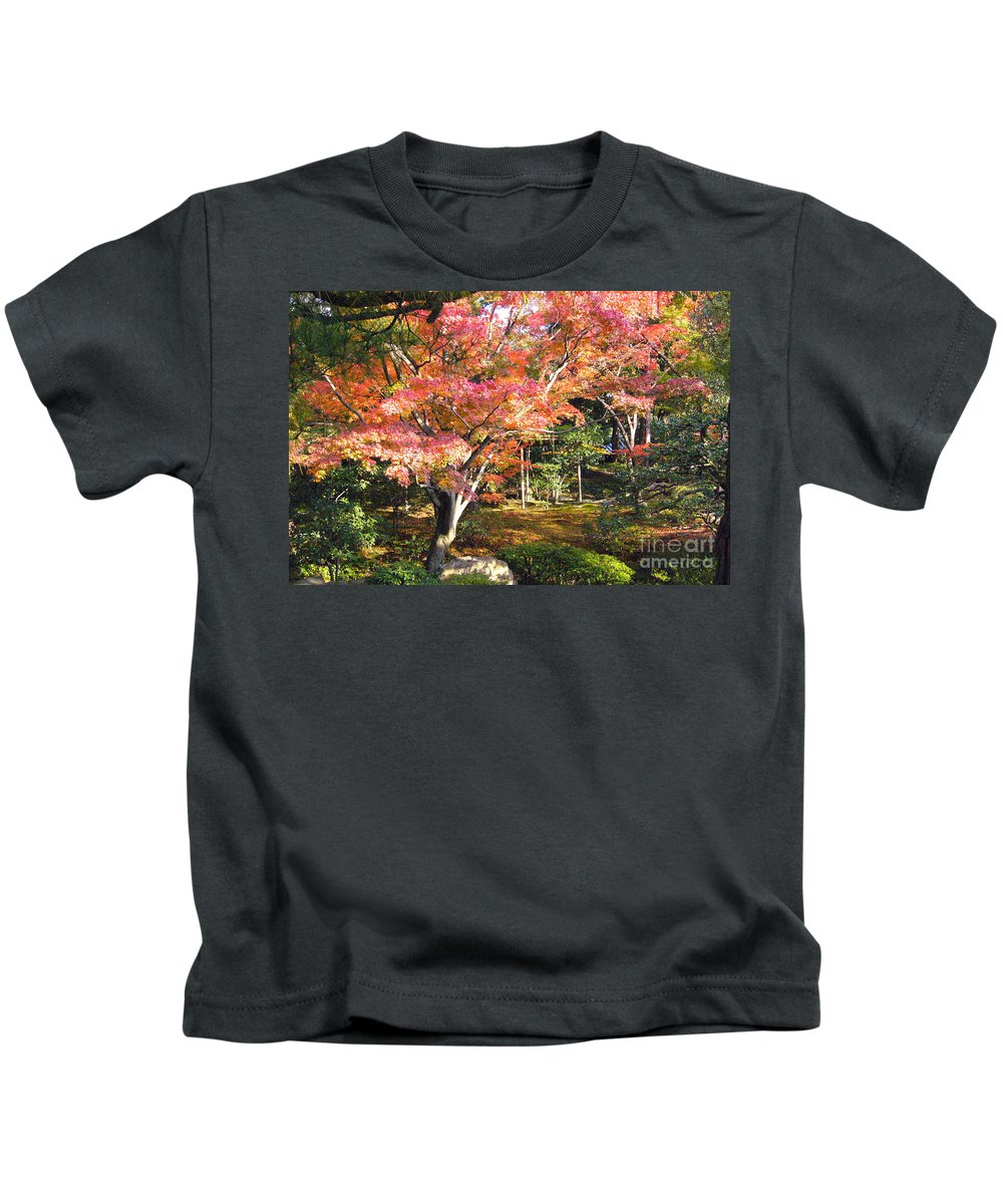 Kyoto Kids T-Shirt featuring the photograph Autumn Colors by To-Tam Gerwe