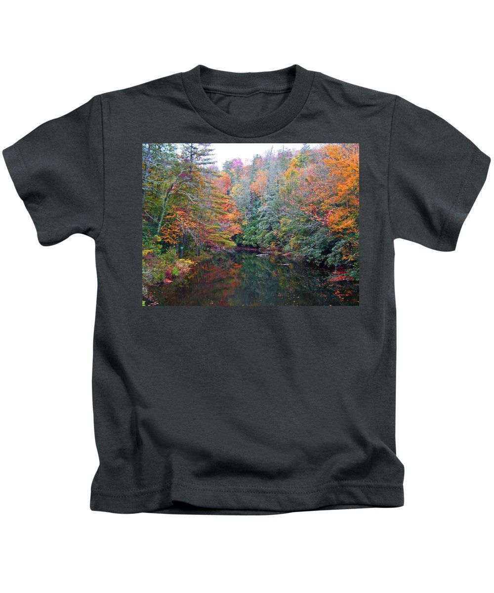 Autumn Kids T-Shirt featuring the photograph Autumn Mountain Stream by Patricia Taylor