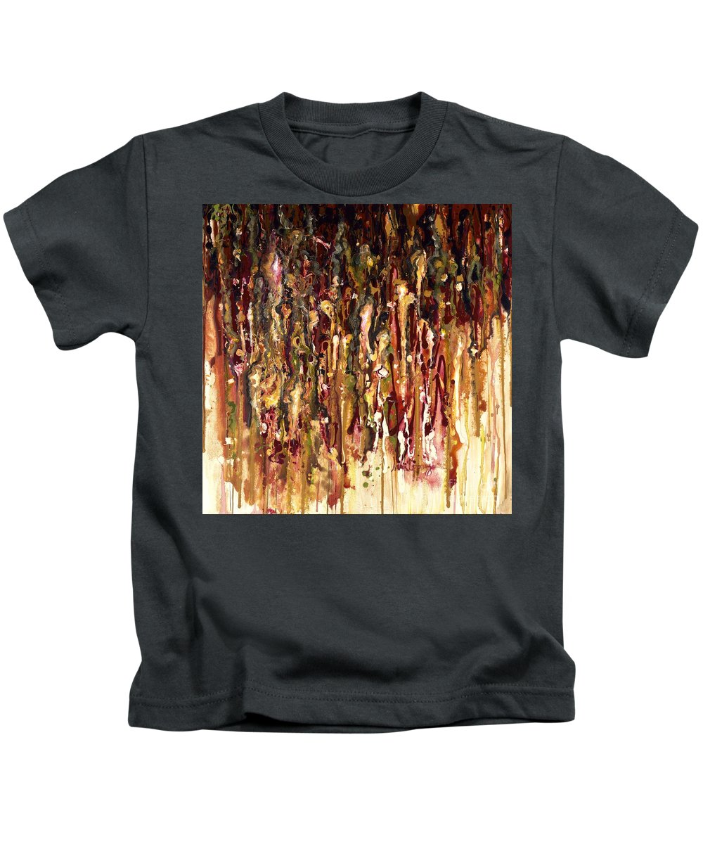 Rain Kids T-Shirt featuring the painting Autumn Rains by Nadine Rippelmeyer