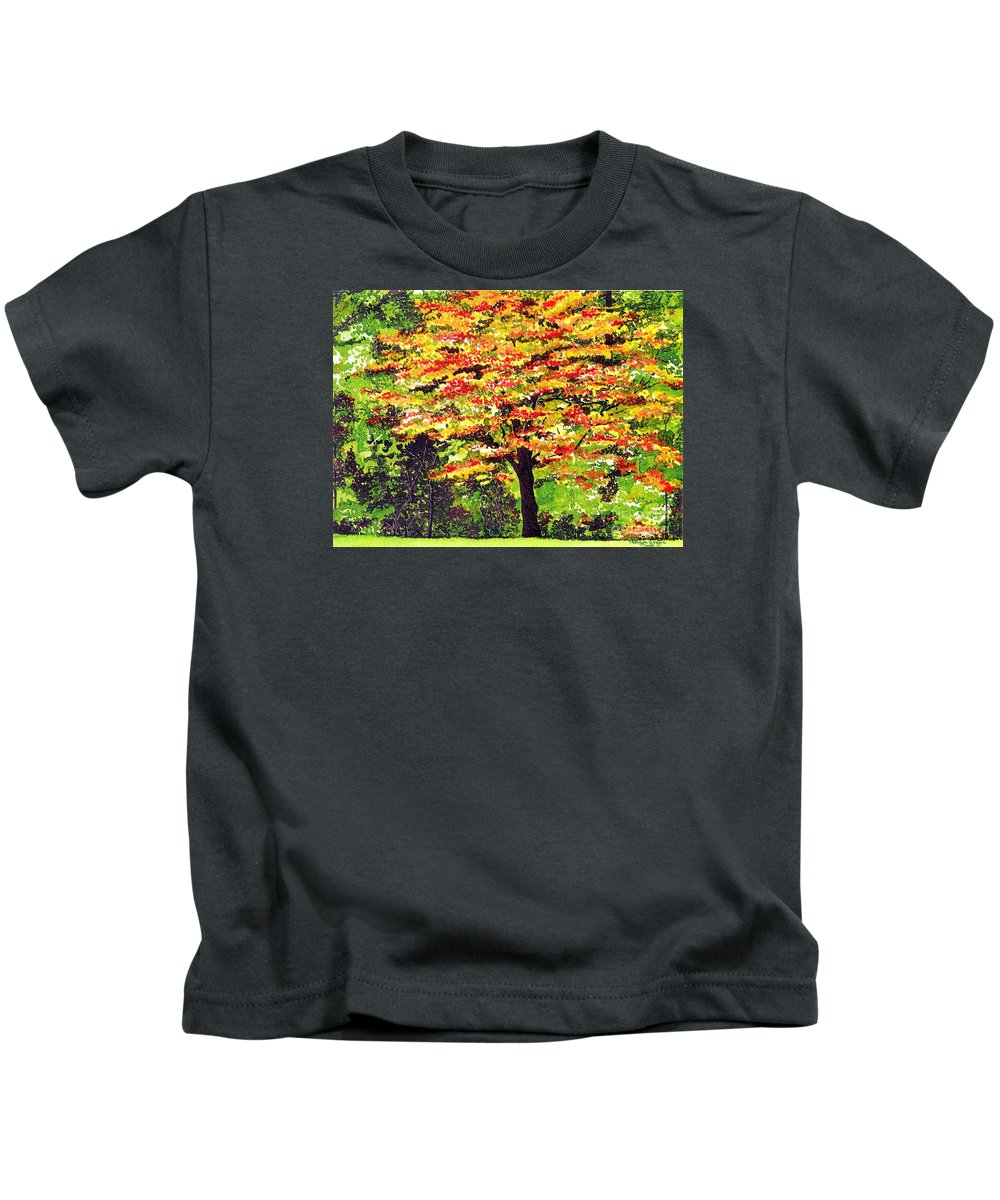 Fine Art Kids T-Shirt featuring the painting Autumn Splendor by Patricia Griffin Brett