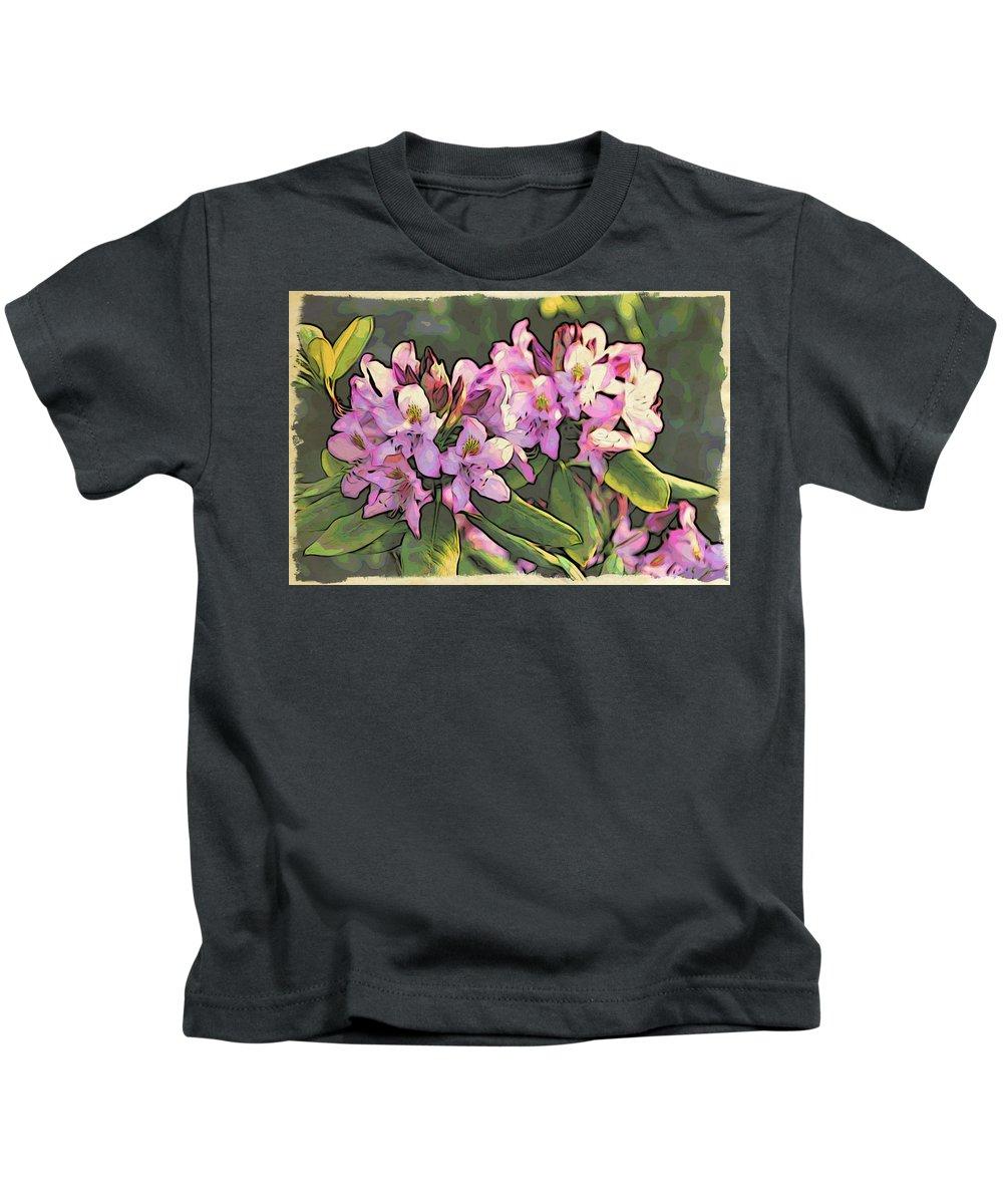 Azaleas Kids T-Shirt featuring the photograph Azalea Art by Alice Gipson