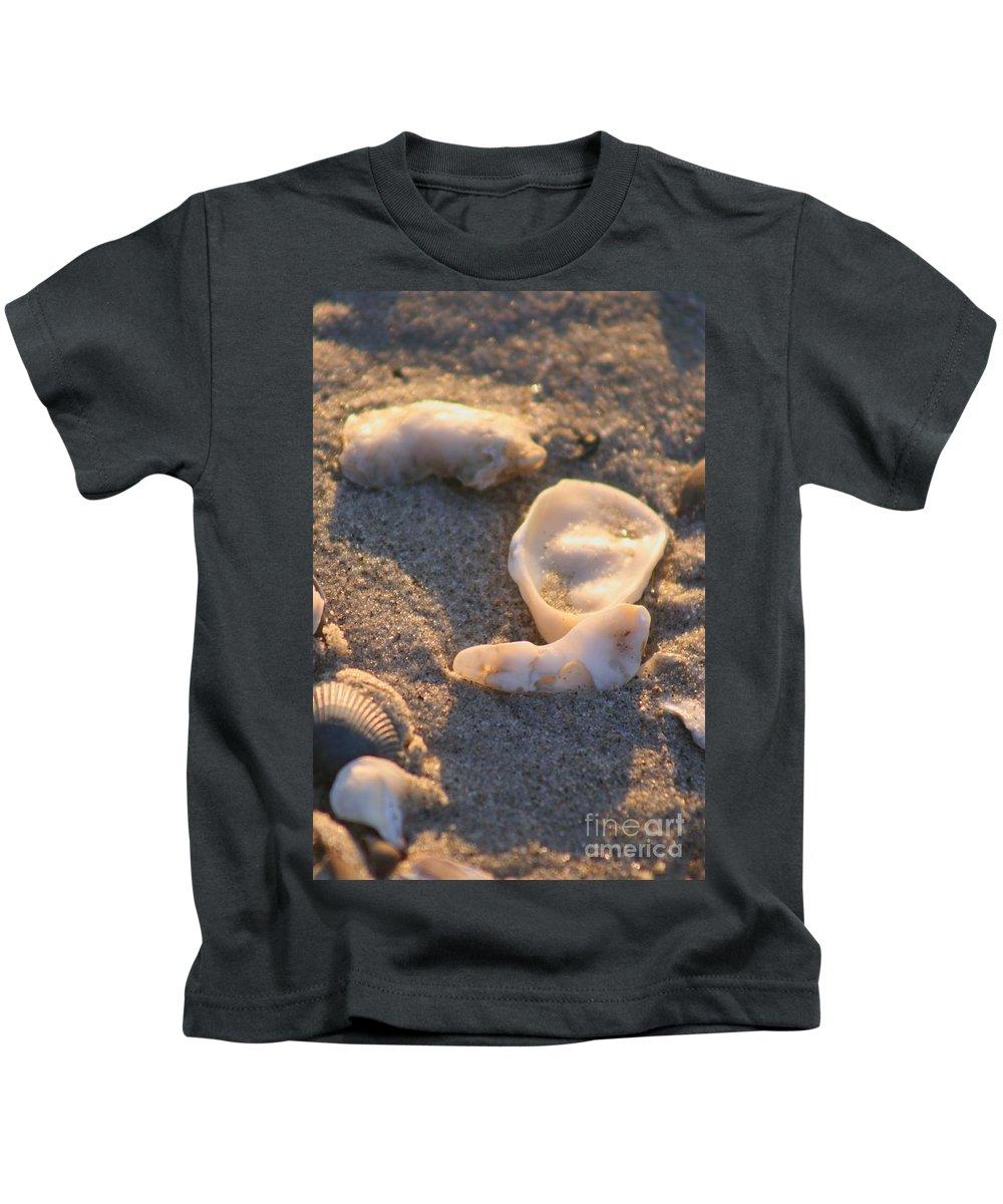 Shells Kids T-Shirt featuring the photograph Bald Head Island Shells by Nadine Rippelmeyer