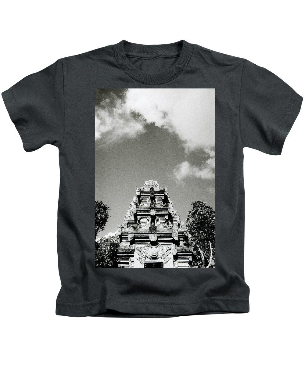 Bali Kids T-Shirt featuring the photograph Bali Temple by Shaun Higson
