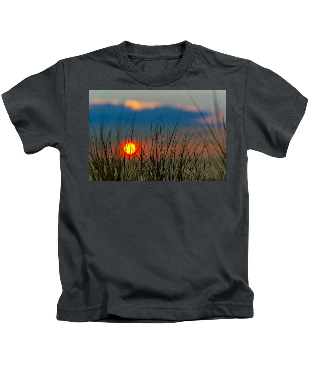 Clouds Kids T-Shirt featuring the photograph Ball Of Fire by Sebastian Musial