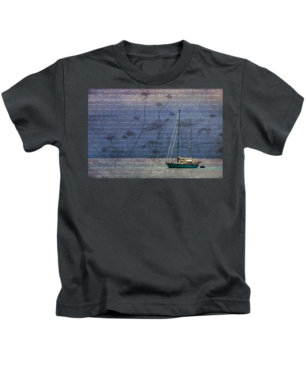Boat Kids T-Shirt featuring the photograph Balmy Lumiere by Alice Gipson