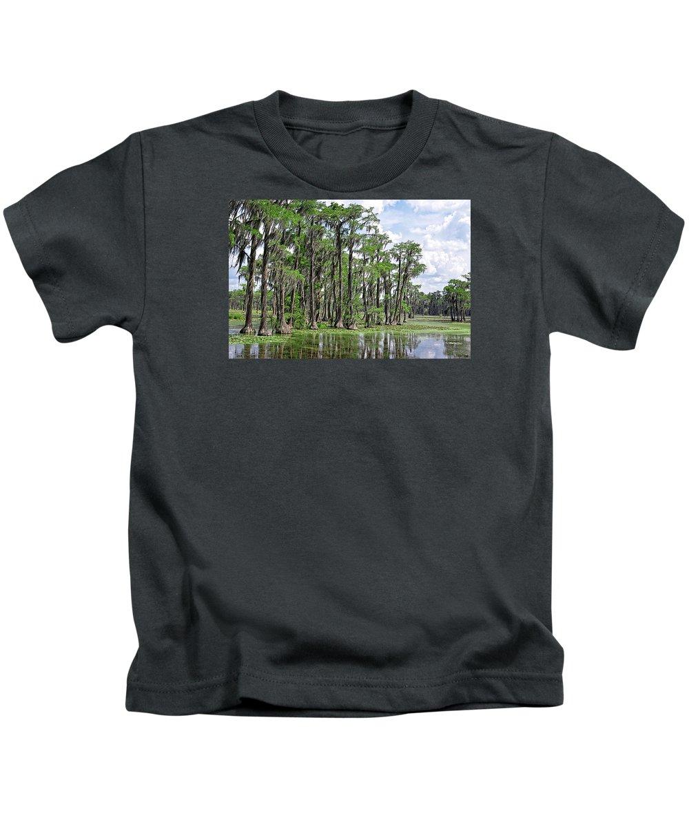 Banks Lake Kids T-Shirt featuring the photograph Banks Lake Georgia by Marilyn Holkham