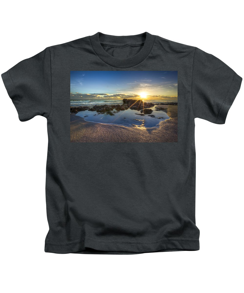 Clouds Kids T-Shirt featuring the photograph Baptism by Debra and Dave Vanderlaan