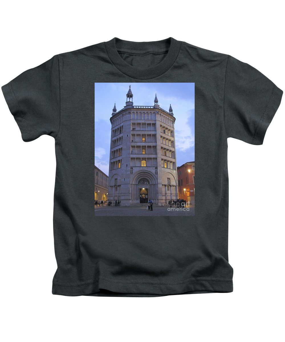 Baptistry Kids T-Shirt featuring the photograph Baptistery Of Parma by Riccardo Mottola