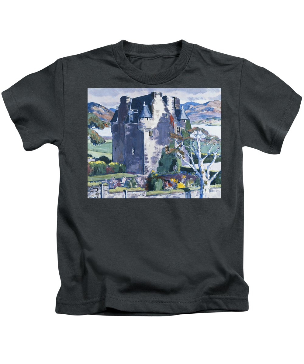 20th Century Kids T-Shirt featuring the painting Barcaldine Castle by Francis Campbell Boileau Cadell