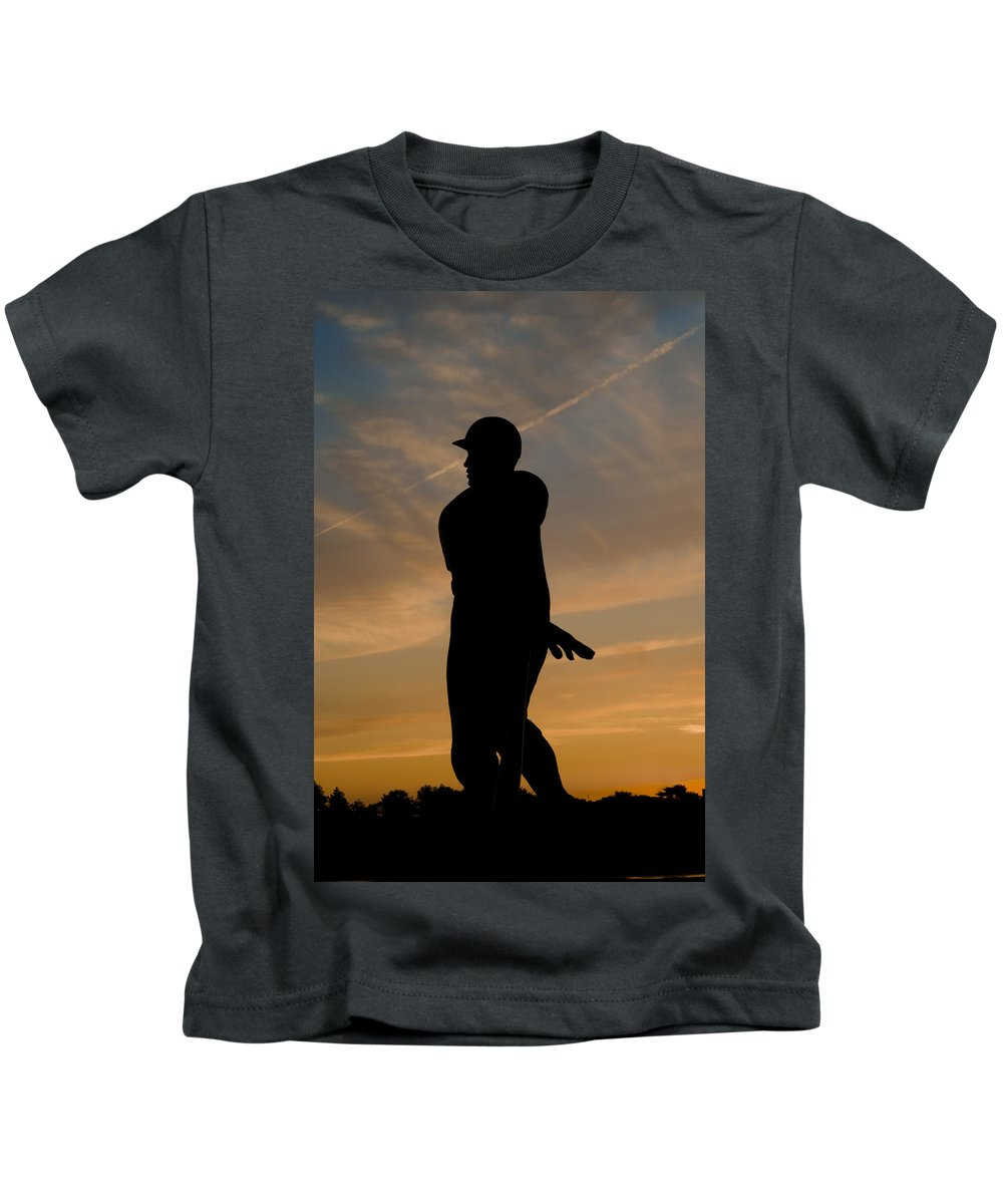 Batter Kids T-Shirt featuring the photograph Batter At Dawn - Phillies by Bill Cannon