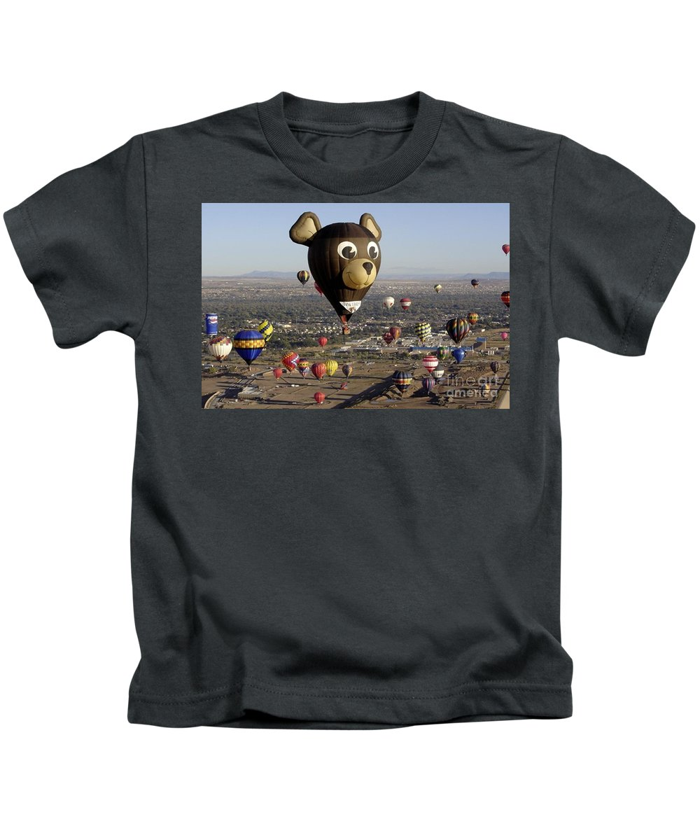 Albuquerque Kids T-Shirt featuring the photograph Bear by Mary Rogers