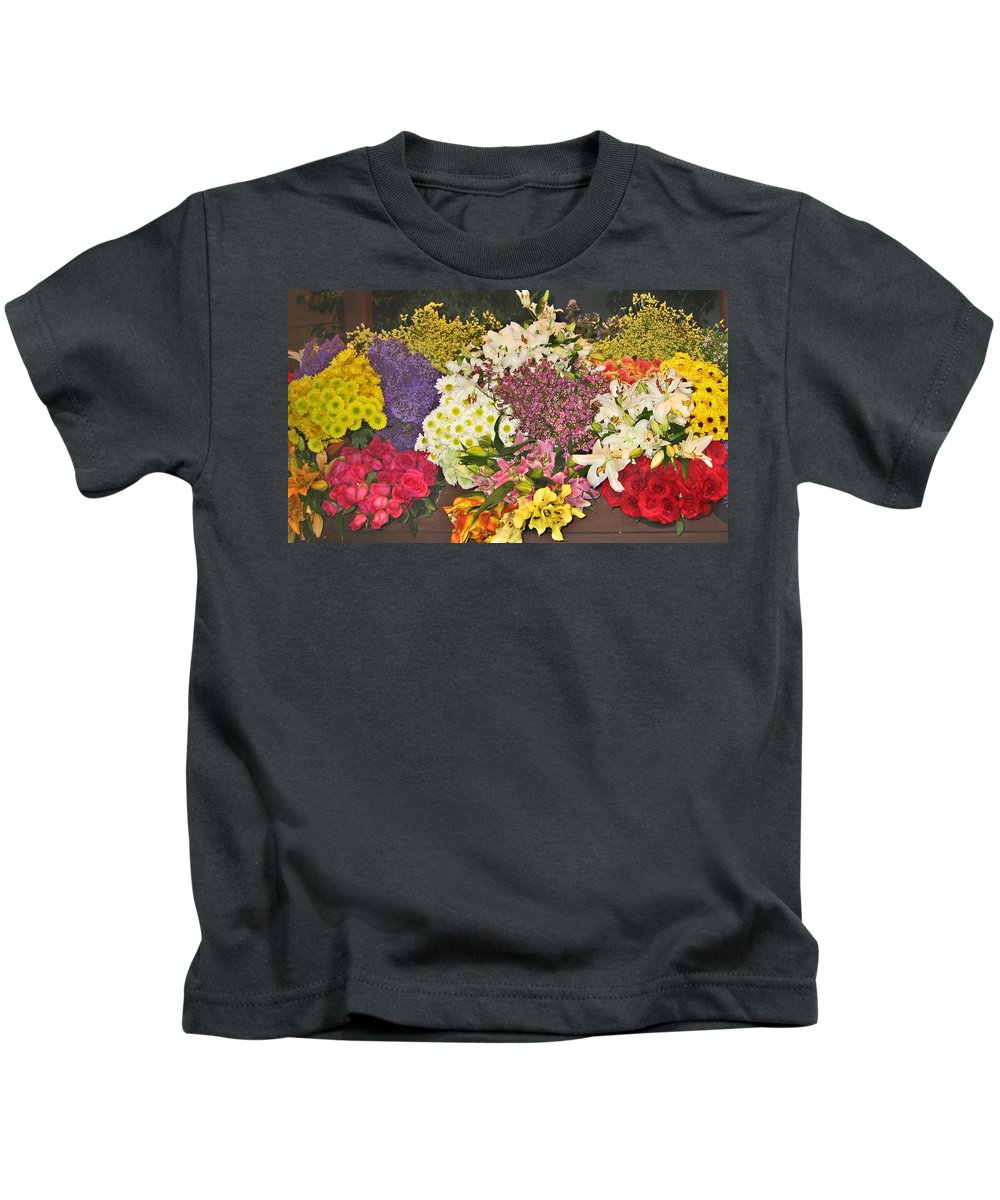 Flowers Kids T-Shirt featuring the photograph Beautiful Blooms by Judith Morris