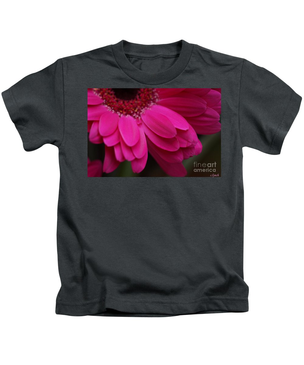 Pink Kids T-Shirt featuring the photograph Beautiful Petals by Carol Lynch