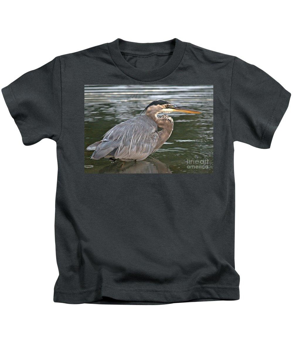 Kids T-Shirt featuring the photograph Beautiful Wader by Cheryl Baxter