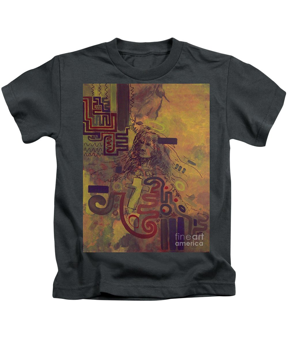 Abstract Kids T-Shirt featuring the painting Before And After by Tonya Henderson