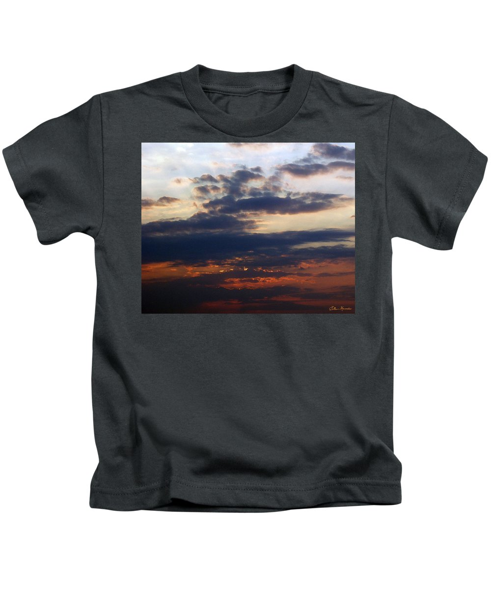 Behold The Dawn Kids T-Shirt featuring the painting Behold The Dawn by Ellen Henneke
