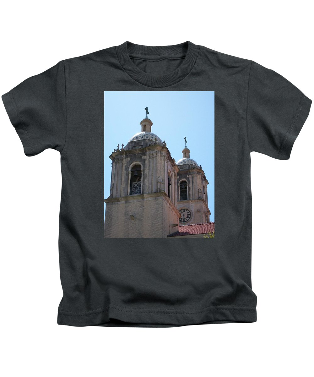 Catholic Kids T-Shirt featuring the photograph Bell Towers by Laurette Escobar
