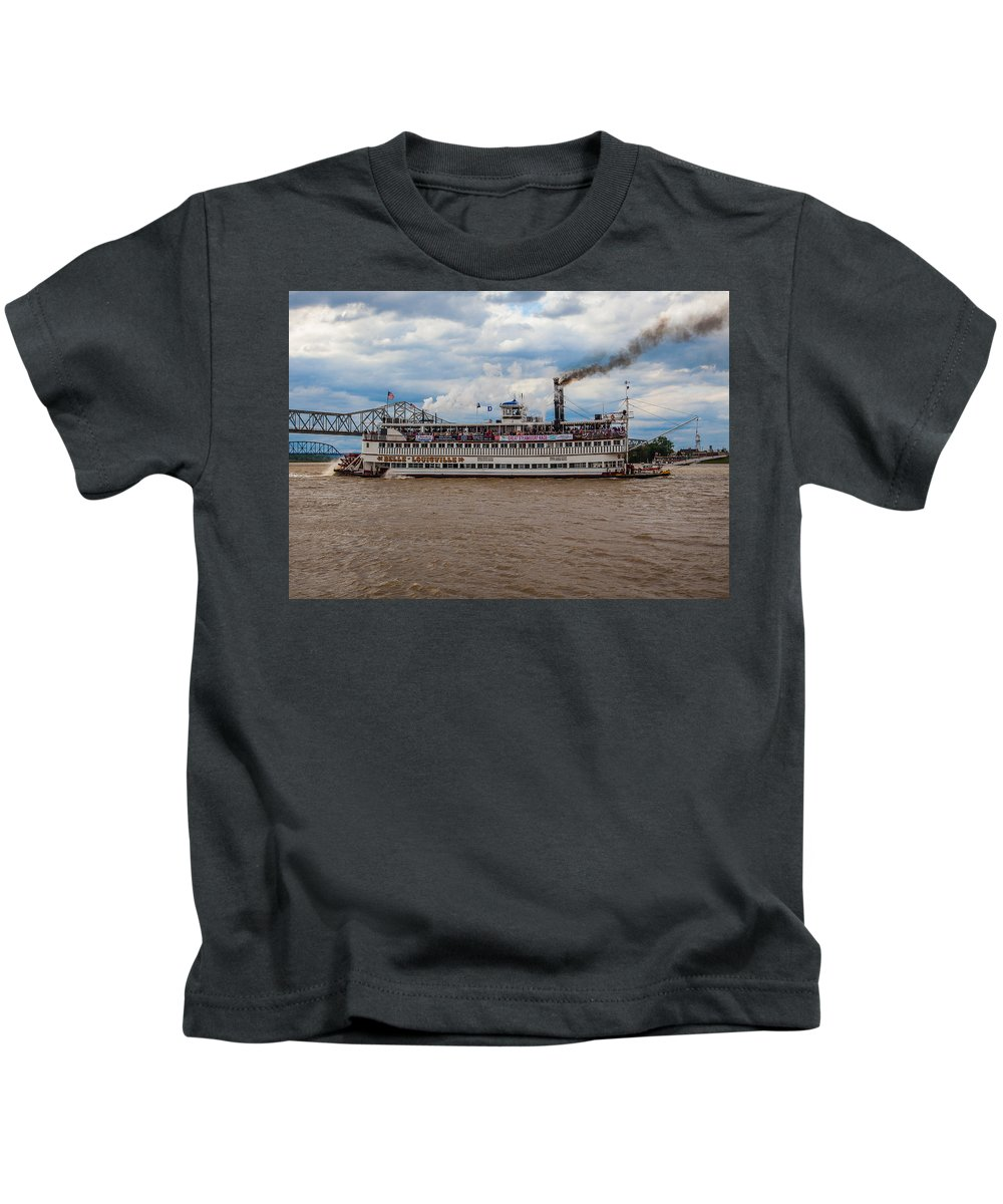 Belle Of Louisville Kids T-Shirt featuring the photograph Belle Of Louisville by James Guest