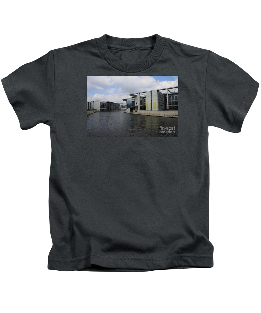 Government Building Kids T-Shirt featuring the photograph Berlin Government Building by Christiane Schulze Art And Photography