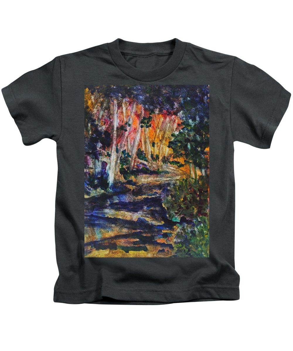 Brookside Gardens Paintings Kids T-Shirts