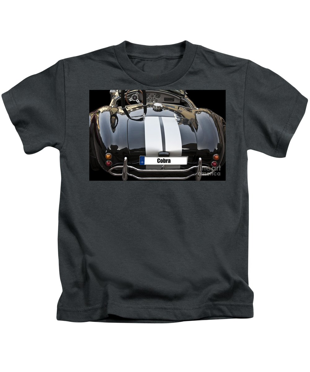 Heiko Kids T-Shirt featuring the photograph Black Cn Cobra Classic Car by Heiko Koehrer-Wagner