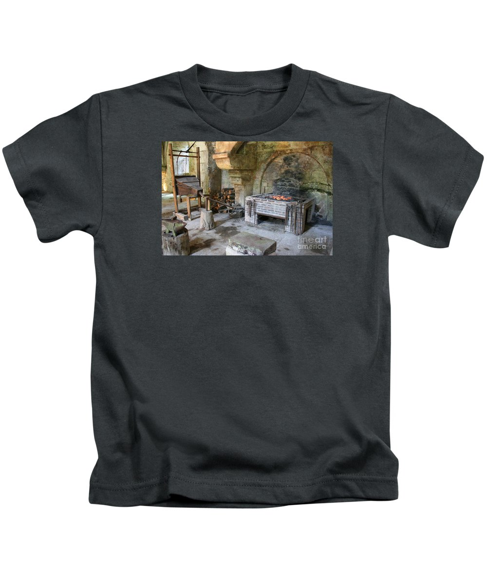 Blacksmith Kids T-Shirt featuring the photograph Blacksmiths Workshop by Christiane Schulze Art And Photography