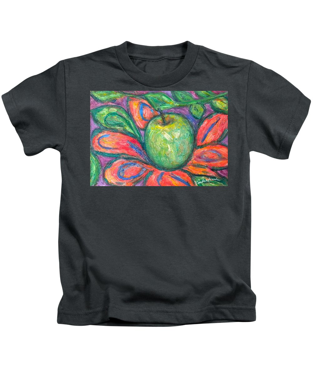 Apple Paintings Kids T-Shirt featuring the painting Blooming Apple by Kendall Kessler