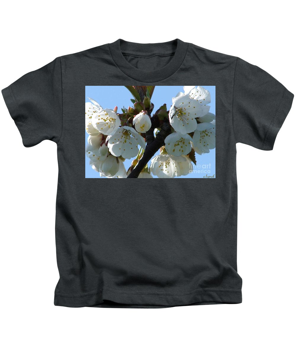 Blossoms Kids T-Shirt featuring the photograph Blossoms 3 by Carol Lynch