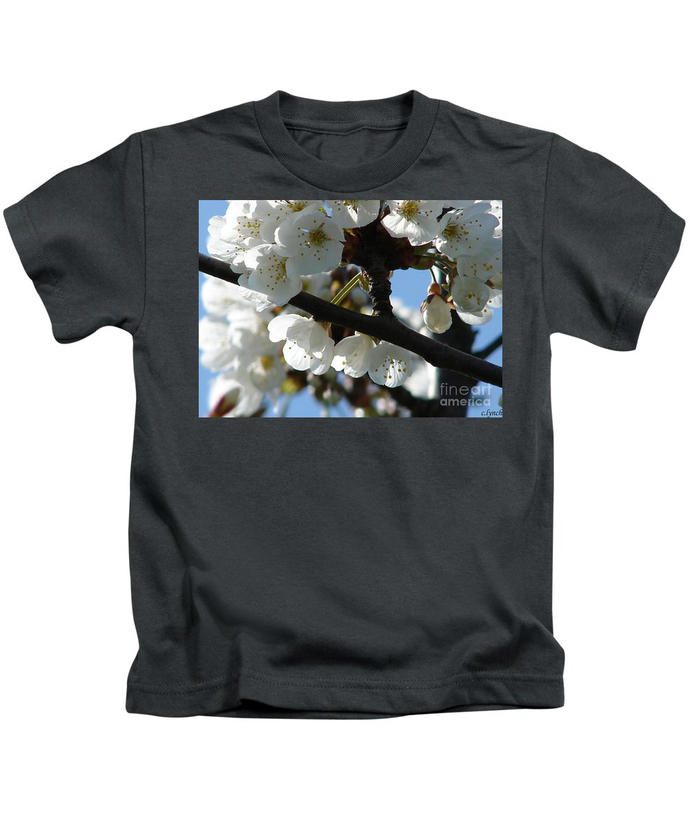Blossoms Kids T-Shirt featuring the photograph Blossoms 4 by Carol Lynch