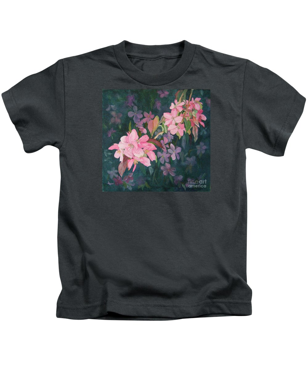 Blossoms Kids T-Shirt featuring the painting Blossoms For Sally by Lynn Quinn