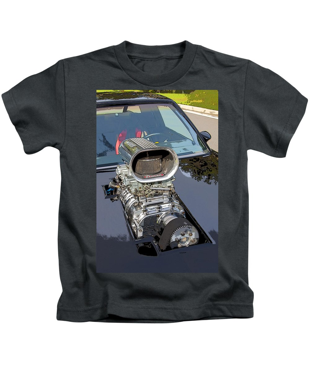 V8 Kids T-Shirt featuring the photograph Blow Me Down by Rich Franco