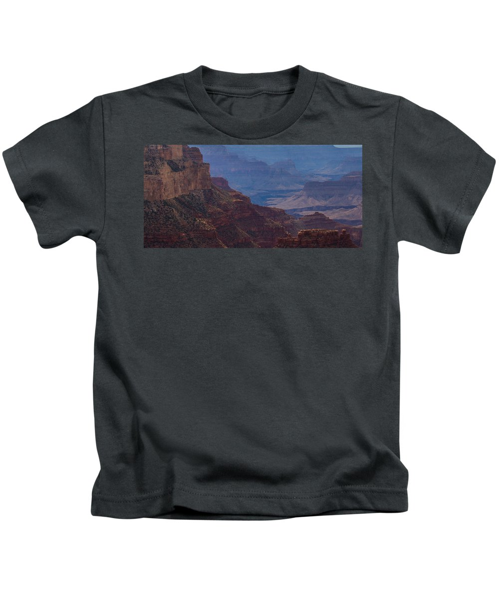 Grand Canyon Kids T-Shirt featuring the photograph Blue Sky And Red Mountains by Kathleen Odenthal