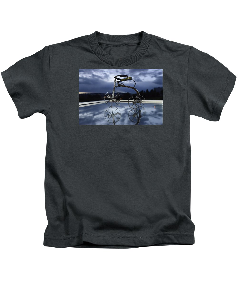 Andre Theophane ( Teo ) Sitchet-kanda Portrait And Fine Art Photography Photographs Photographs Photographs Kids T-Shirt featuring the photograph Blue Visions 5 by Teo SITCHET-KANDA